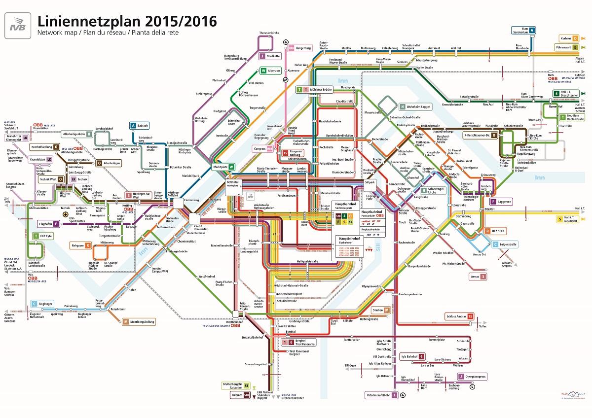 Schematischer IVB Liniennetzplan