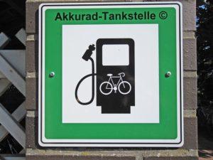 Schild E-Bike Tankstelle